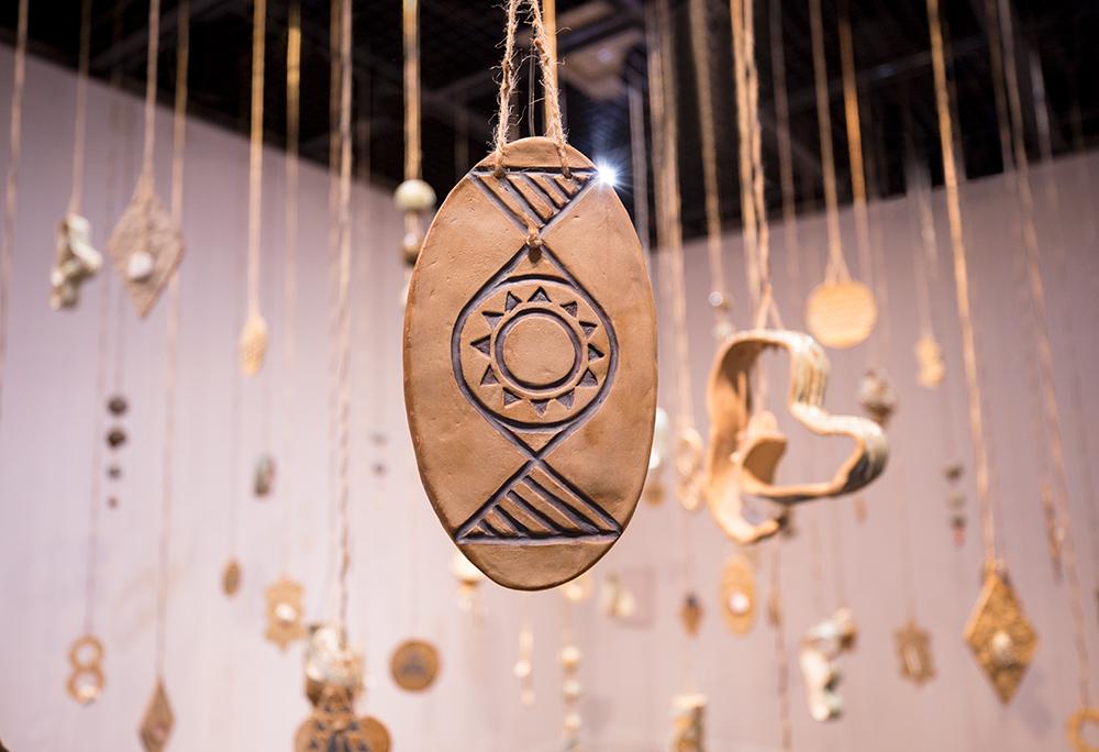 "Medium: Ceramics, marine found objects, custom electronics Dimensions: 315"" x 236"" x 177"" Year: 2018"
